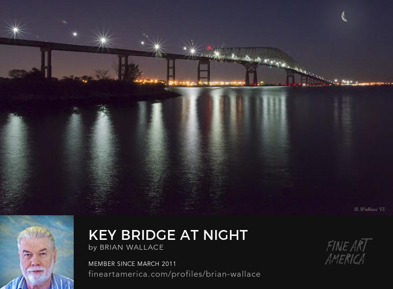 Key Bridge At Night by Brian Wallace