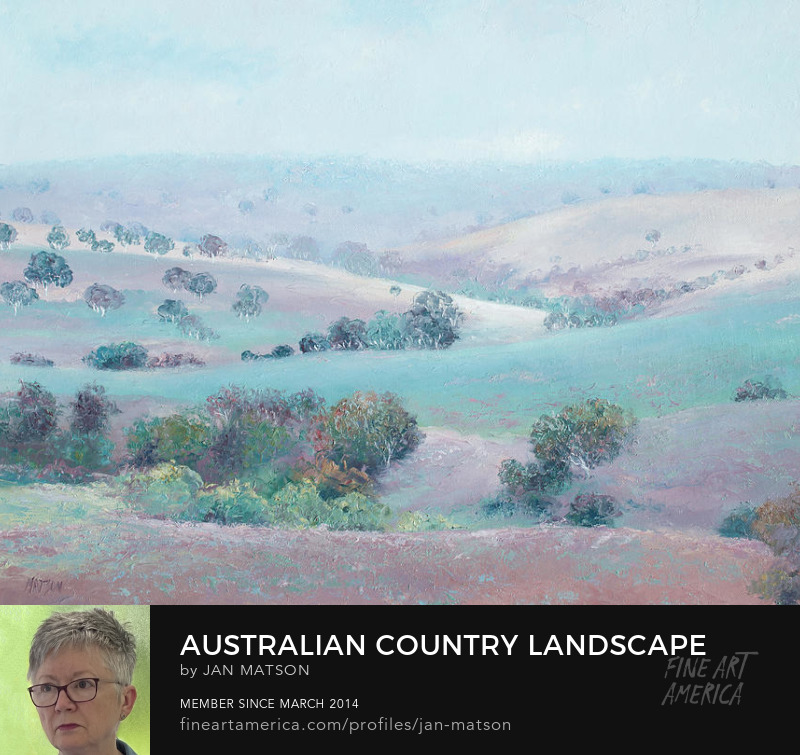 Jan Matson Art, Australian country landscape of gently rolling hills