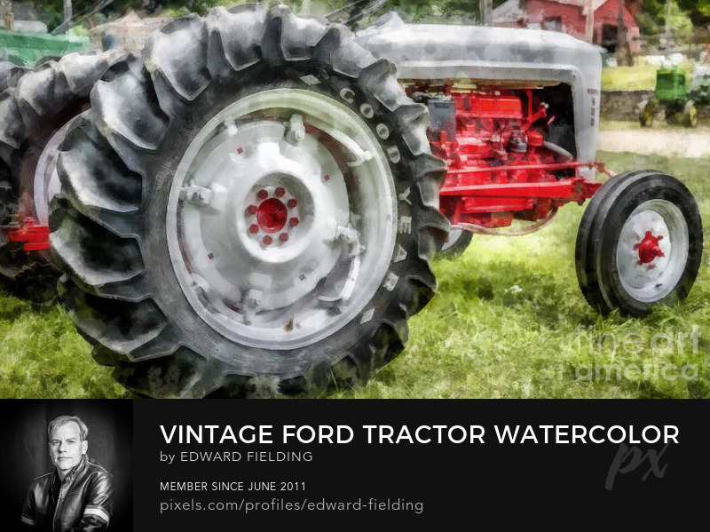 tractor watercolor Art Prints