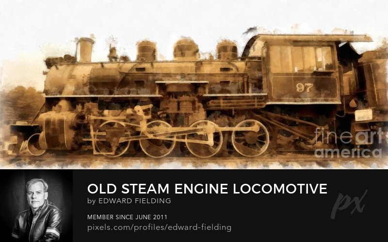 Train locomotive Art Prints