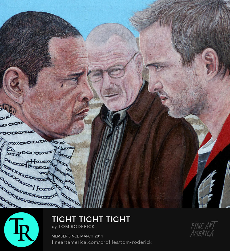 Portrait of Tuco, Jesse, and Walter White by Boulder artist Tom Roderick