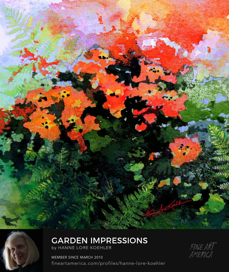 Poppy And Fern Garden Painting