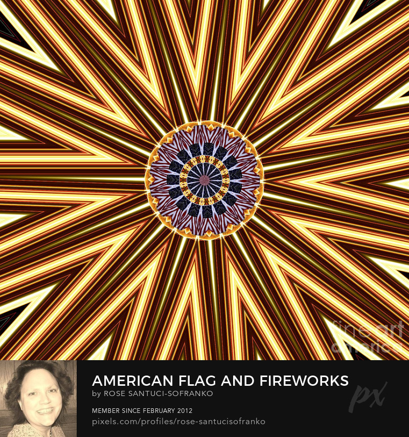 American Flag And Fireworks Kaleidoscope Abstract 1 Art Online