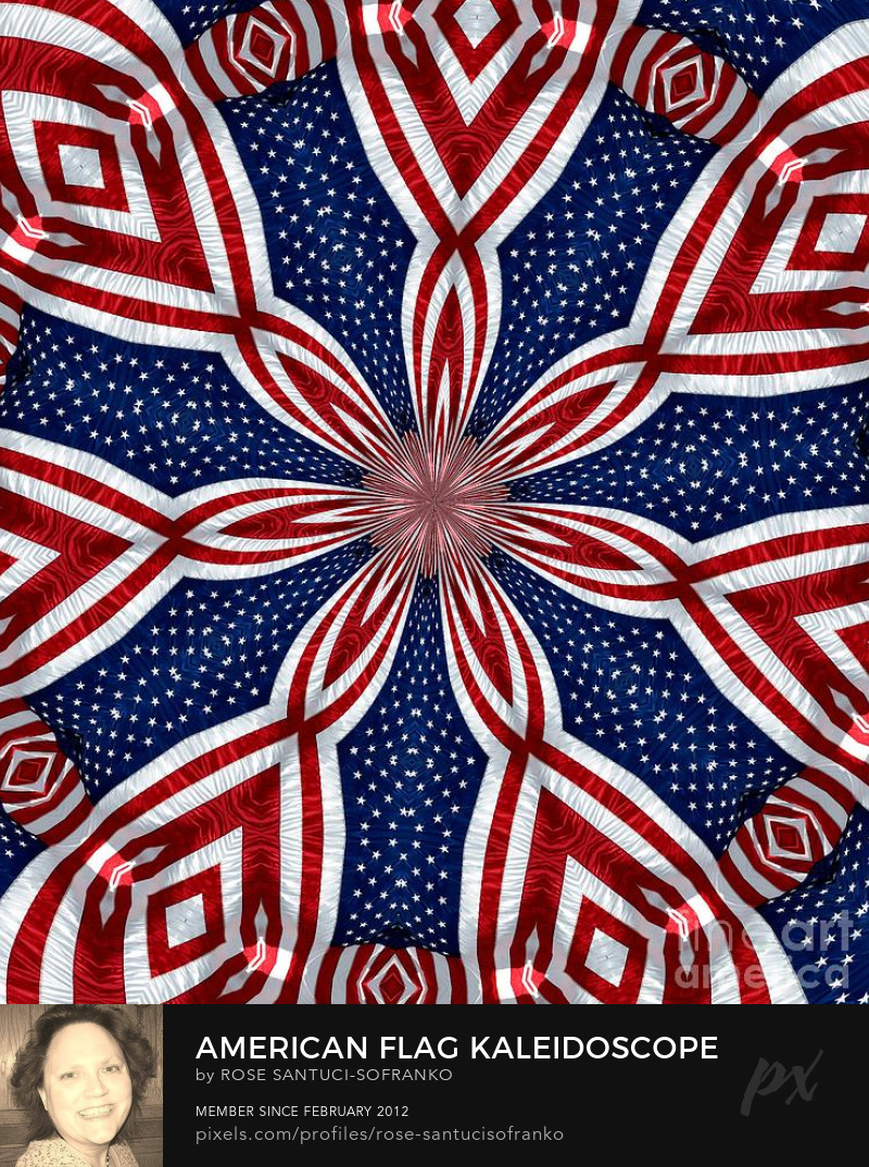 American Flag Kaleidoscope Abstract 1 Photography Prints