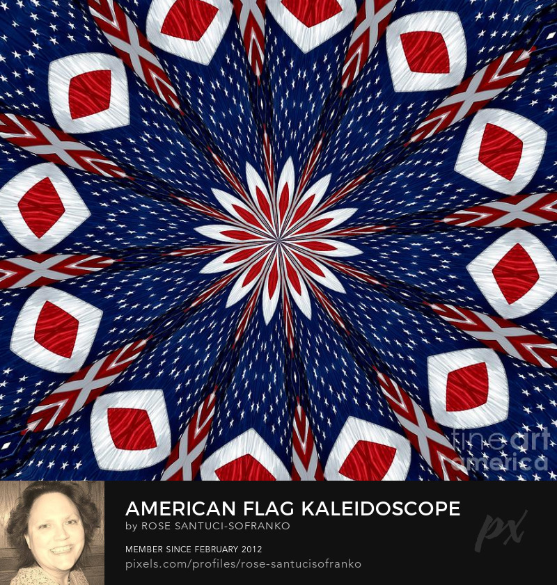 American Flag Kaleidoscope Abstract 2 Photography Prints