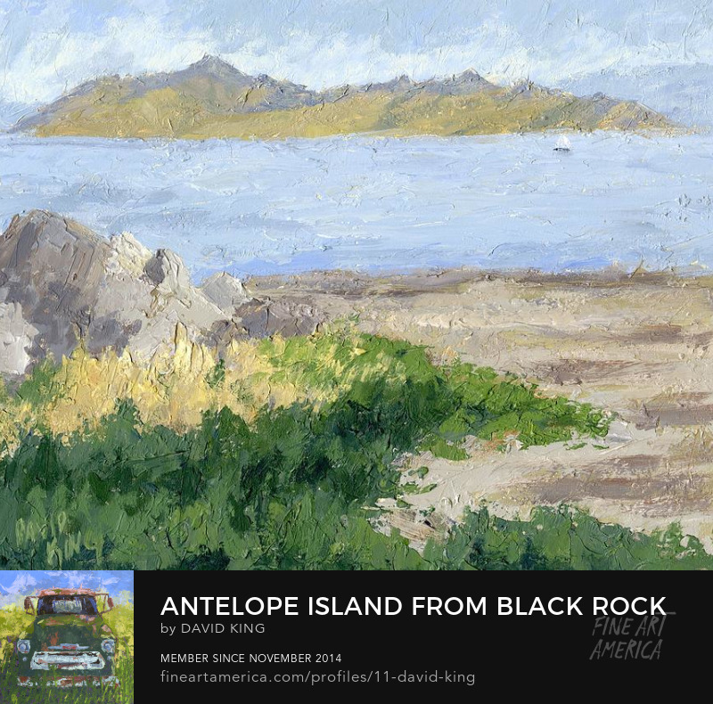 art painting landscape plein air antelope island salt lake Utah David King Studio