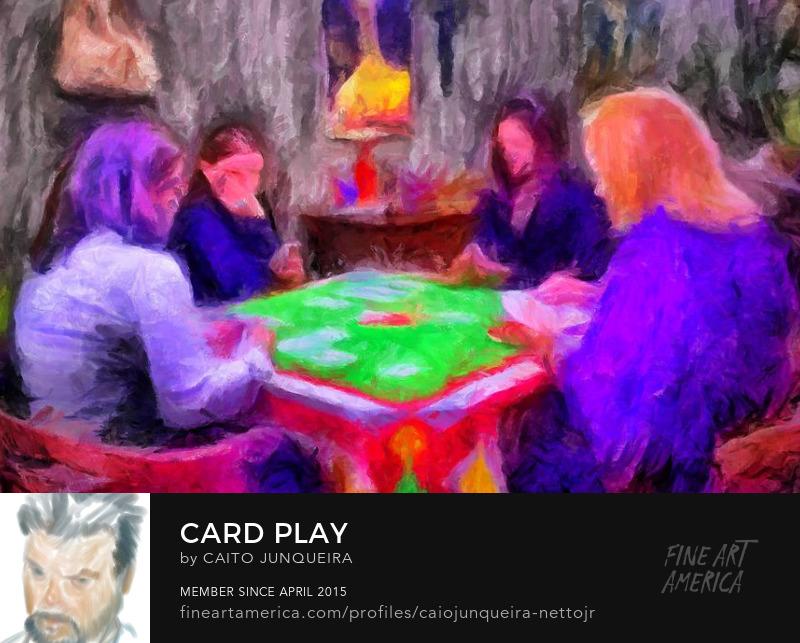 Card Game Poster Art Print