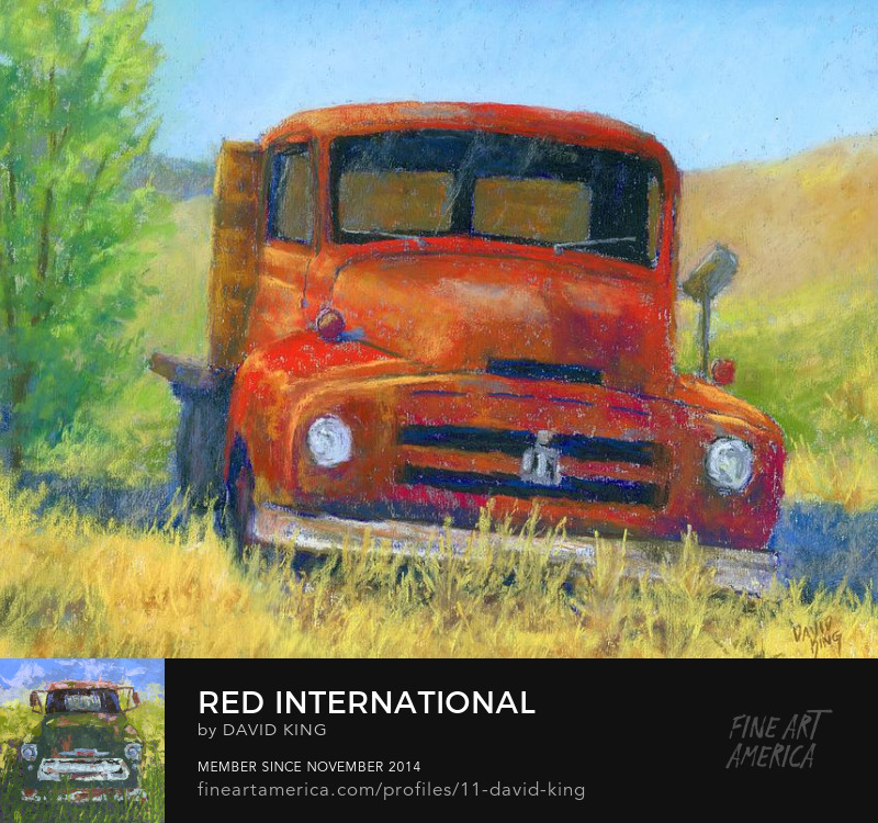 art painting truck abandoned International Harvester old vintage