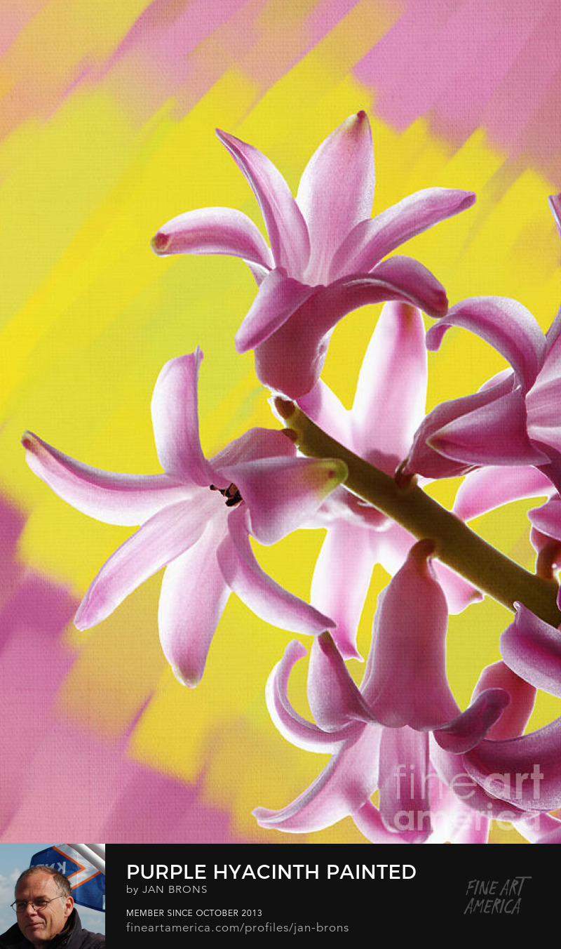 Purple Hyacinth Painted Background - Sell Art Online