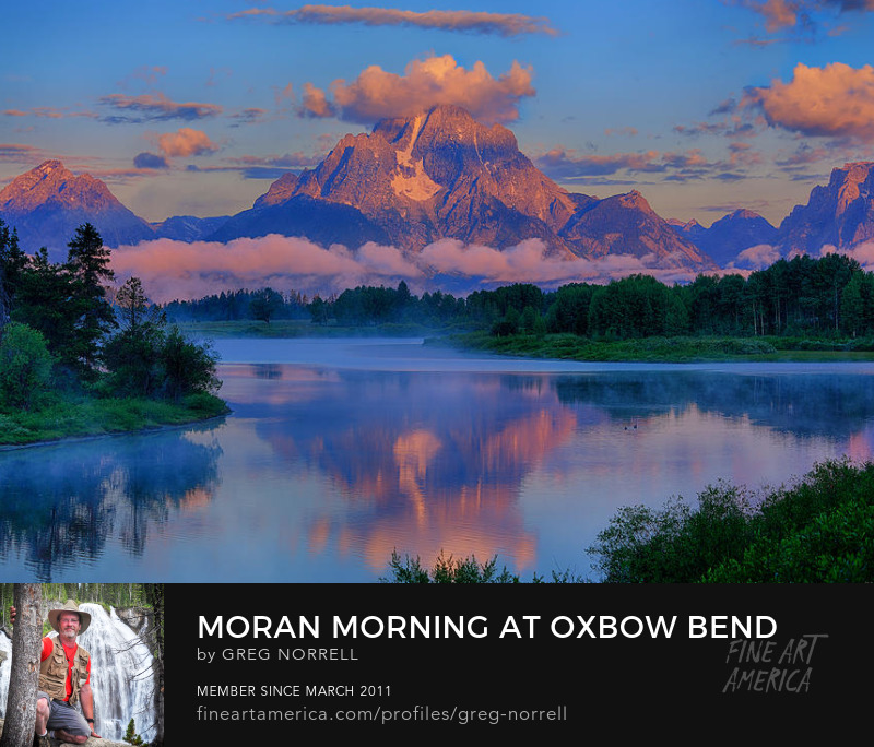 First Light at Oxbow Bend in Grand Teton National Park