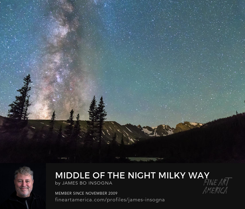 Milky Way Above The Rocky Mountains Art Prints
