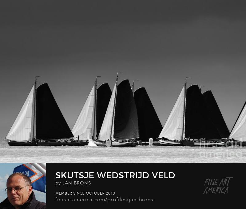 Skutsje wedstrijd veld - Photography Prints