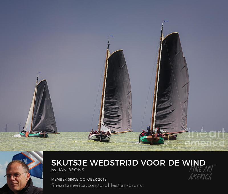 Skutsje wedstrijd voor de wind - Photography Prints