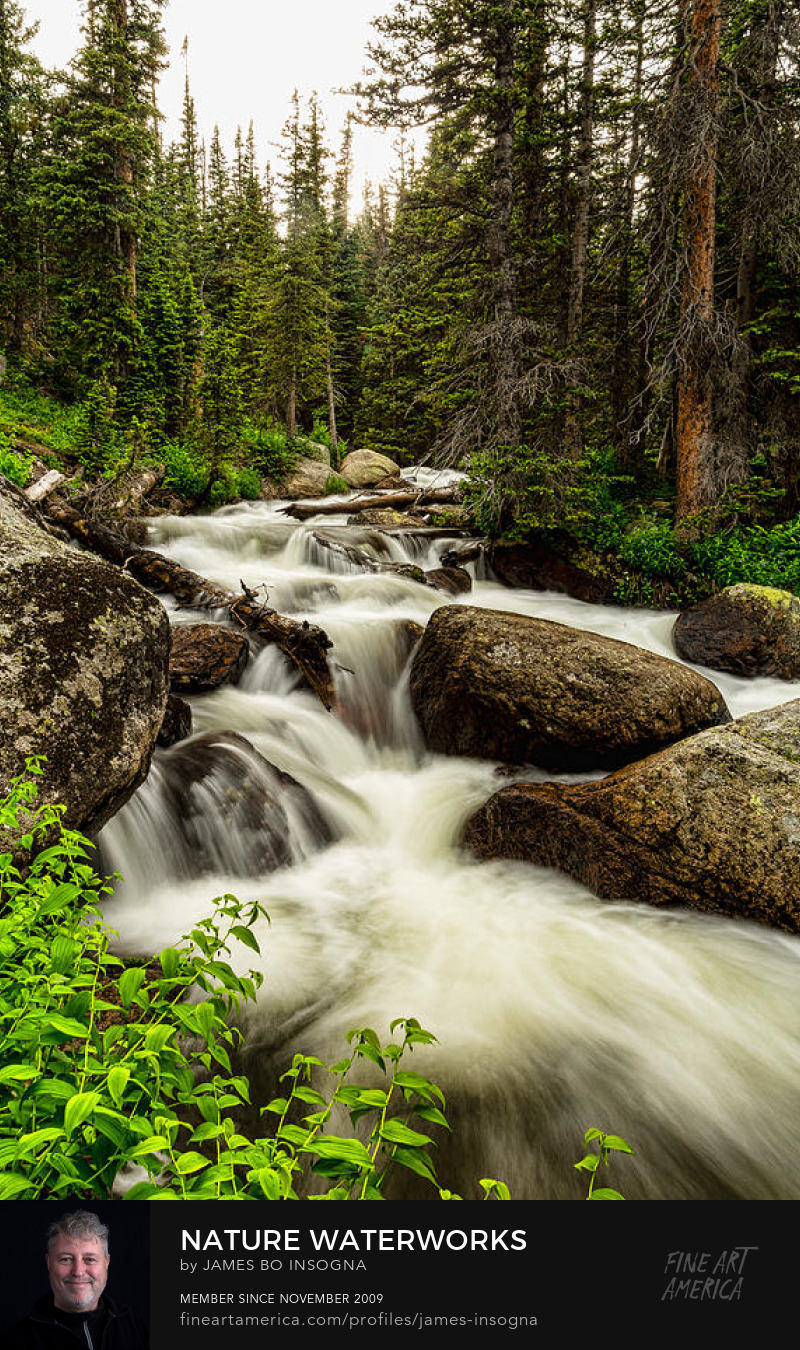 Colorado Waterfall Nature Art Prints