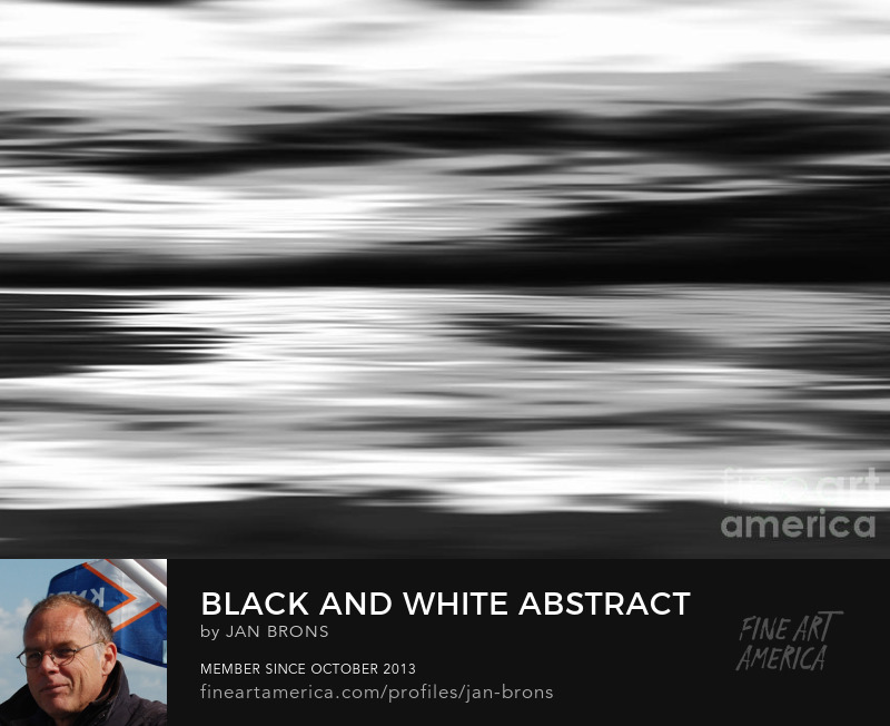 Black and White abstract painting - Photography Prints