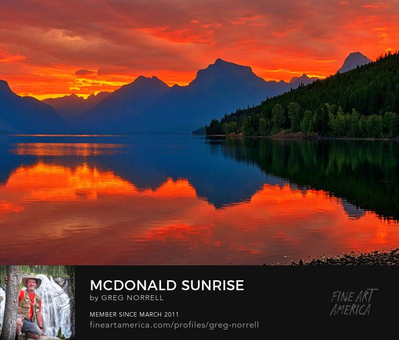Sunrise along Lake McDonald in Glacier National Park