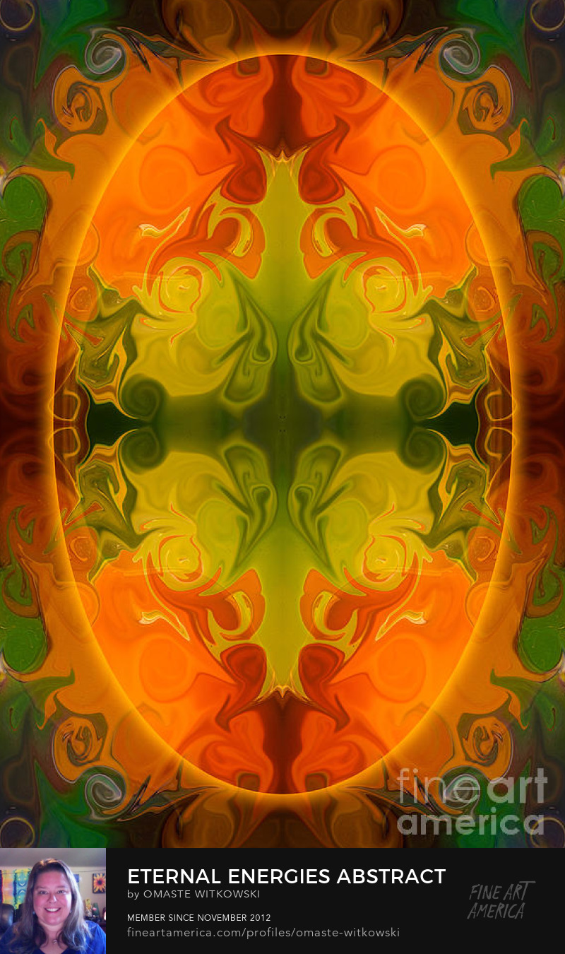 Eternal Energies Abstract Mandala Art By Omashte Photography Prints