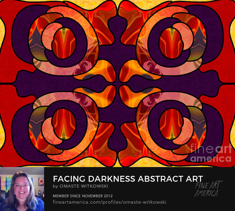 Facing Darkness Abstract Art By Omashte Photography Prints