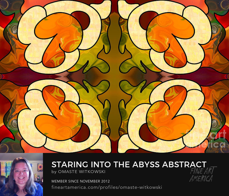 Staring Into The Abyss Abstract Art By Omashte Art Prints