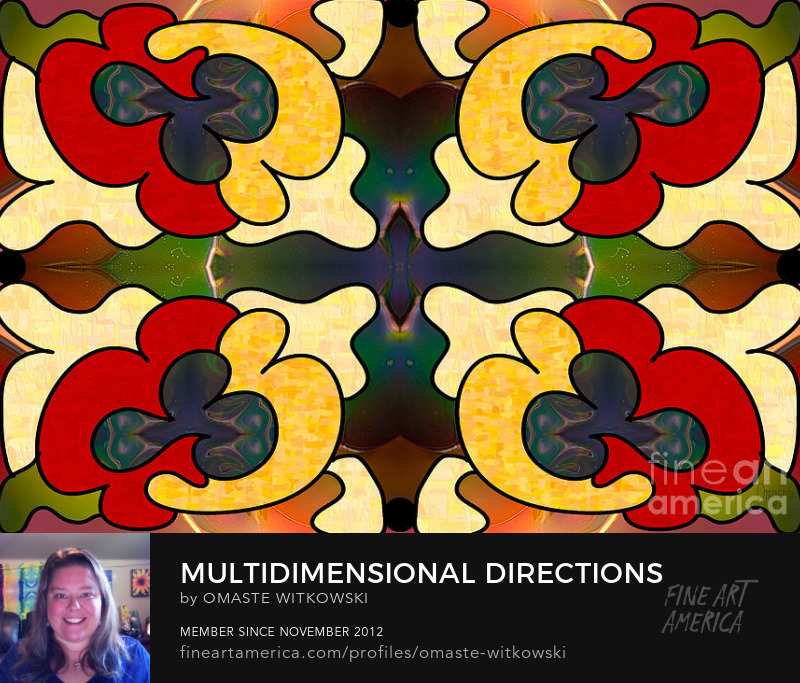 Multidimensional Directions Abstract Art By Omashte Art Prints