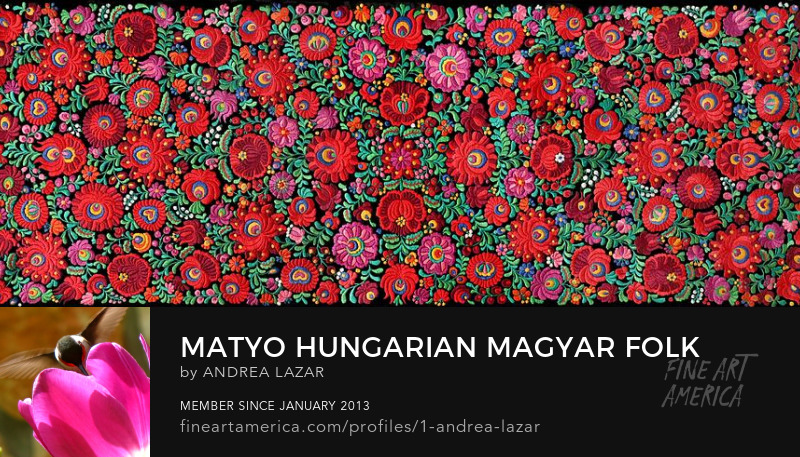 Hungarian Matyo folk embroidery detail by Andrea Lazar