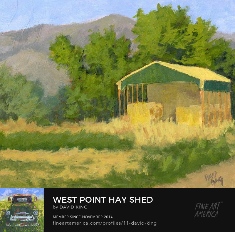 art painting plein air shed hay farm west point Utah David 