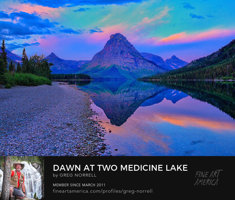 First light along Two Medicine Lake in Glacier National Park