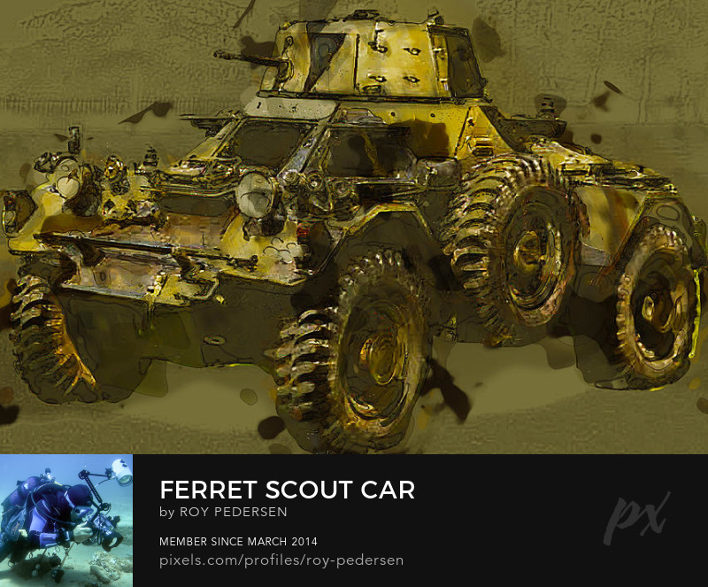 Ferret Scout Car military armed forces Roy Pedersen