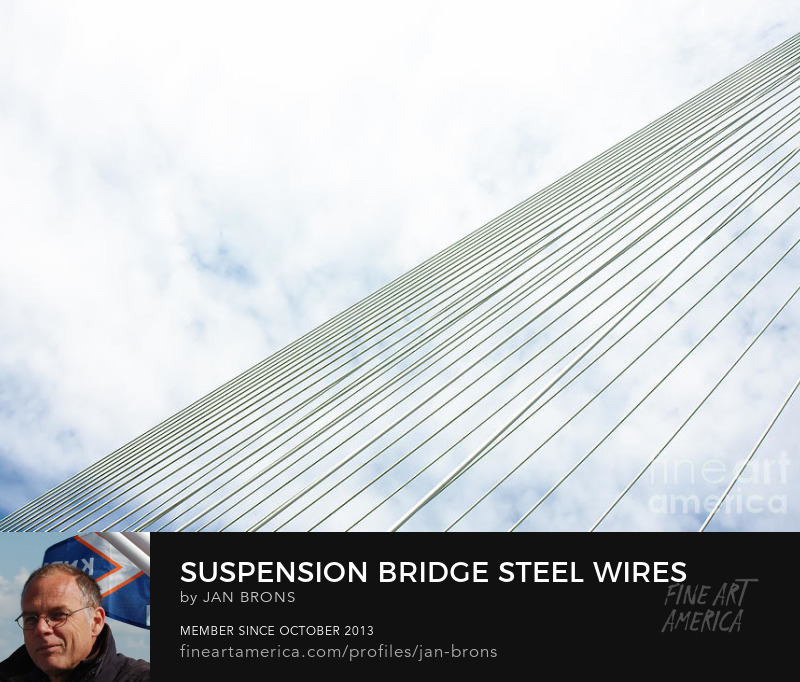 Suspension bridge steel wires - Art Prints