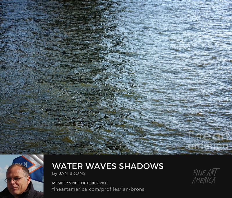 Water waves shadows - Art Prints