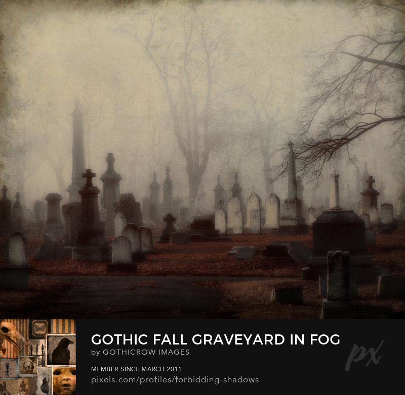 gothic-fall-graveyard-in-fog-gothicolors-donna-snyder