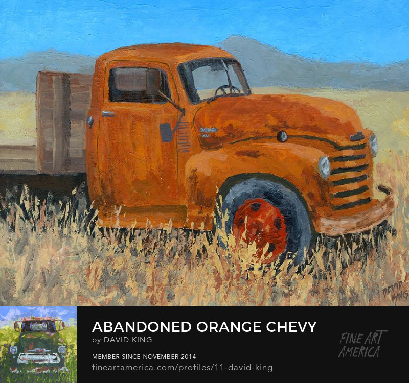 art painting truck chevy abandoned rusty desert David King Studio