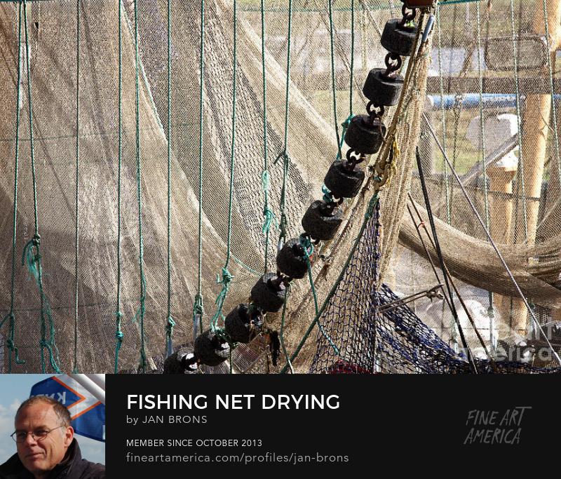Fishing net drying - Sell Art Online