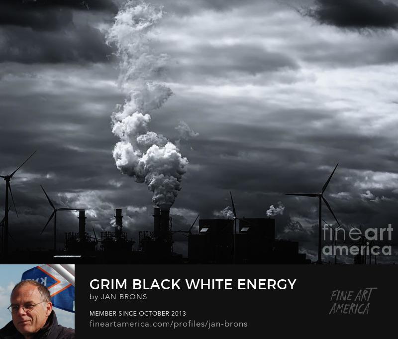 Grim black white energy landscape - Photography Prints