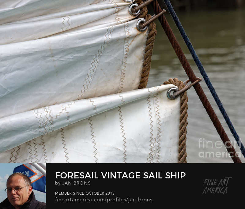 Foresail vintage sail ship - Photography Prints