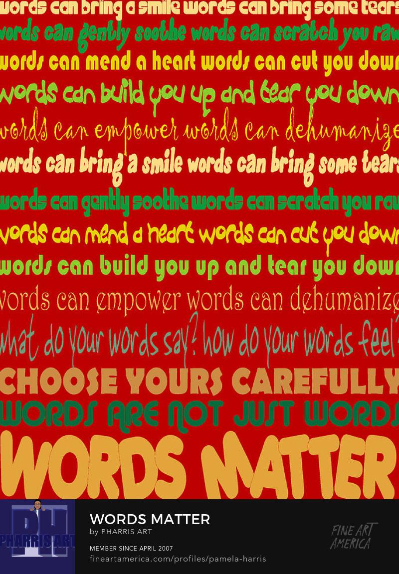 Words Matter Classroom Art by PharrisArt