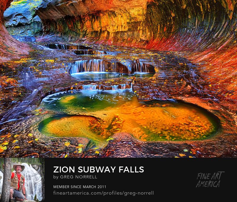 Zion National Park Subway waterfalls