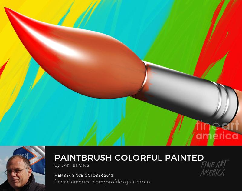 Paintbrush colorful painted background - Art Prints