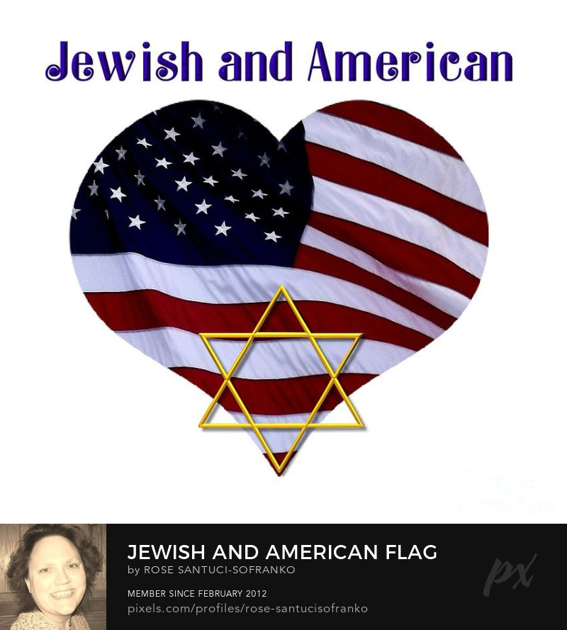 Jewish And American Flag With Star Of David Art Online