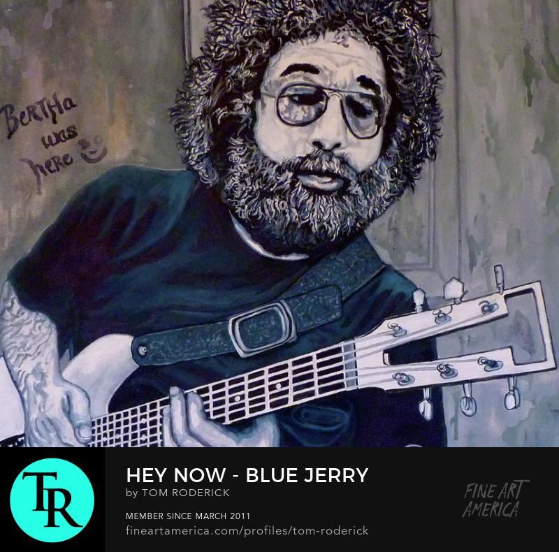 Portrait of Jerry Garcia by Boulder portrait artist Tom Roderick