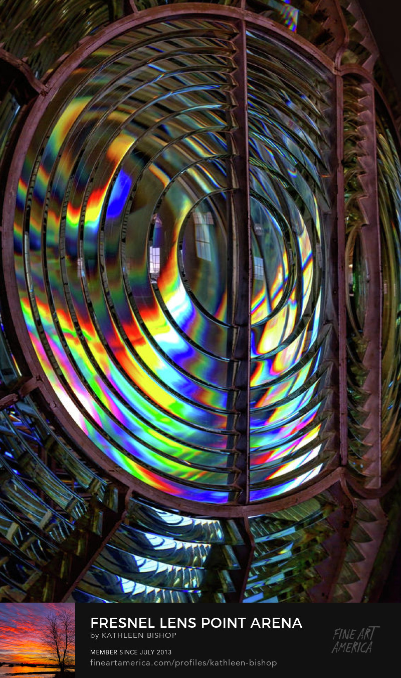 Fresnel Lens Point Arena Lighthouse by Kathleen Bishop Photography