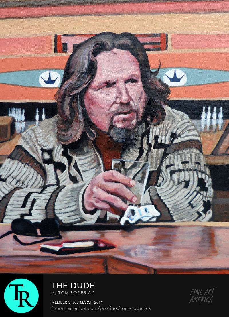 The Dude by Boulder portrait artist Tom Roderick