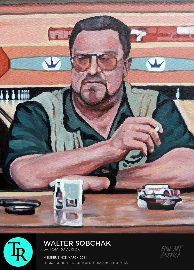 Portrait of Walter Sobchak by Boulder portrait artist Tom Roderick