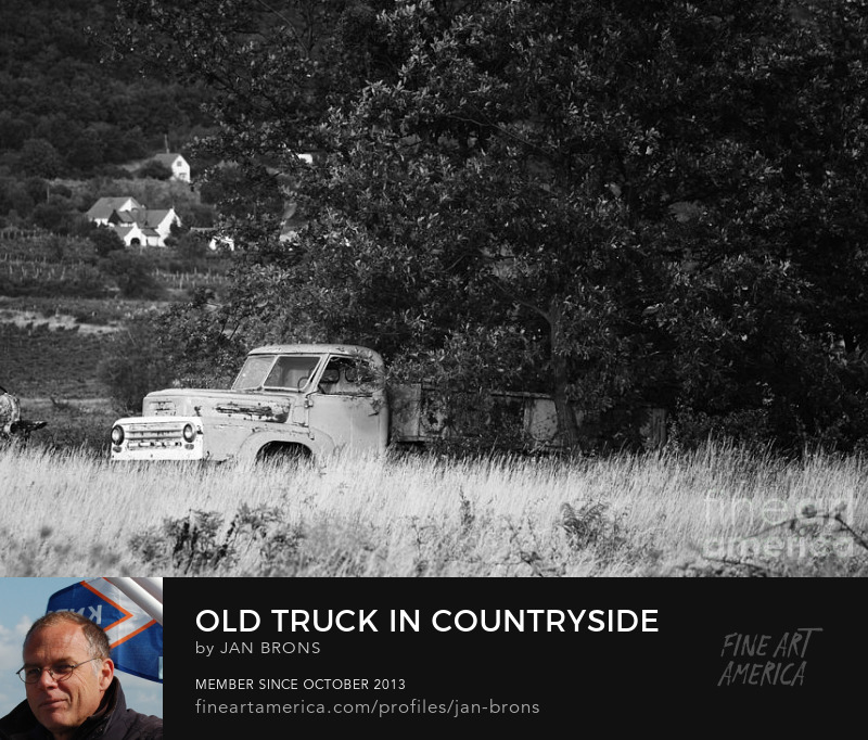 Old truck in countryside - Art Prints