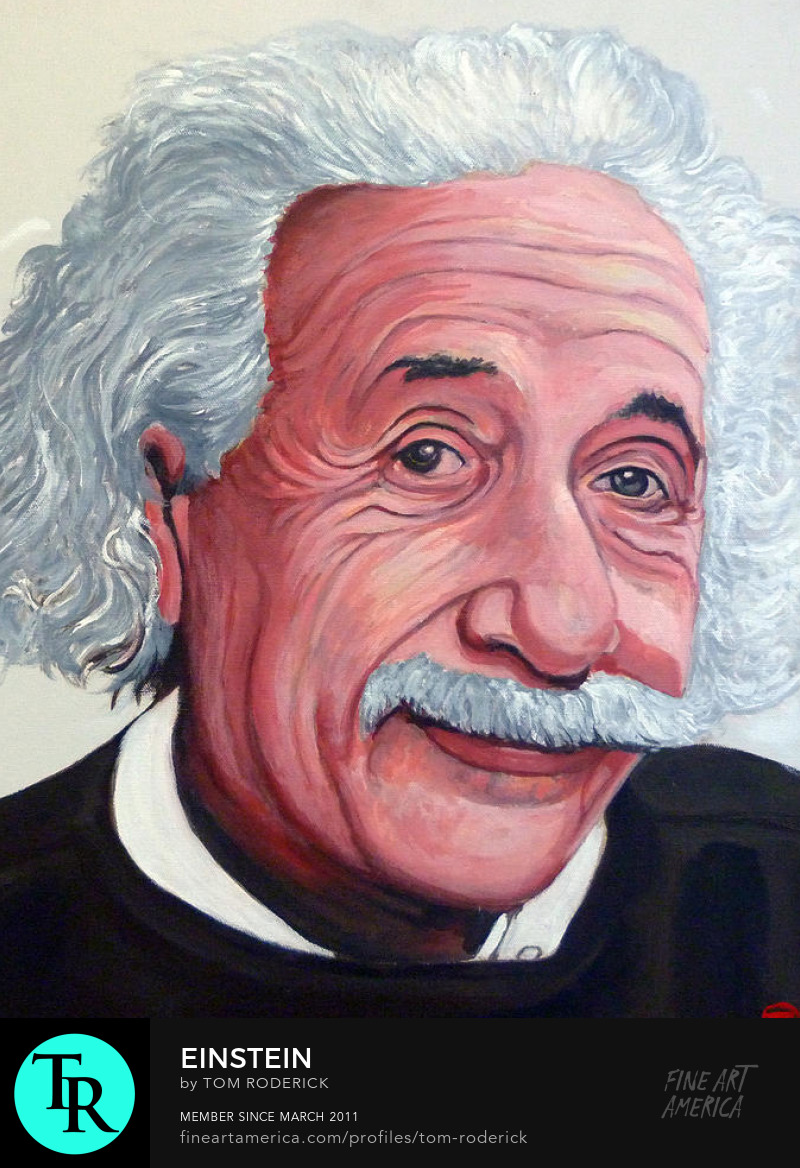 Portrait of Einstein by Boulder artist Tom Roderick