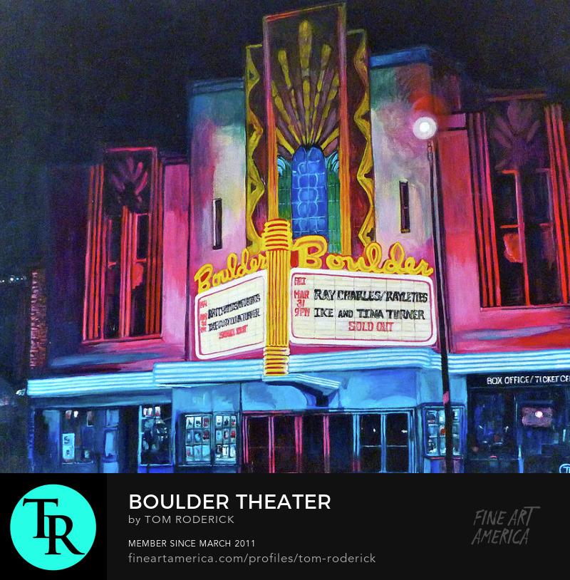 Boulder Theater by Boulder artist Tom Roderick