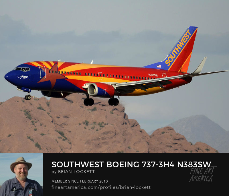 Southwest Boeing 737-3H4 N383SW Arizona Phoenix Sky Harbor December 20 2015