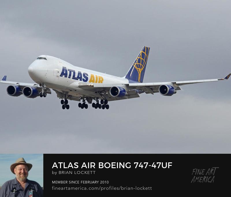 Atlas Air Boeing 747-47UF N415MC Arizona Phoenix Sky Harbor December 23 2015