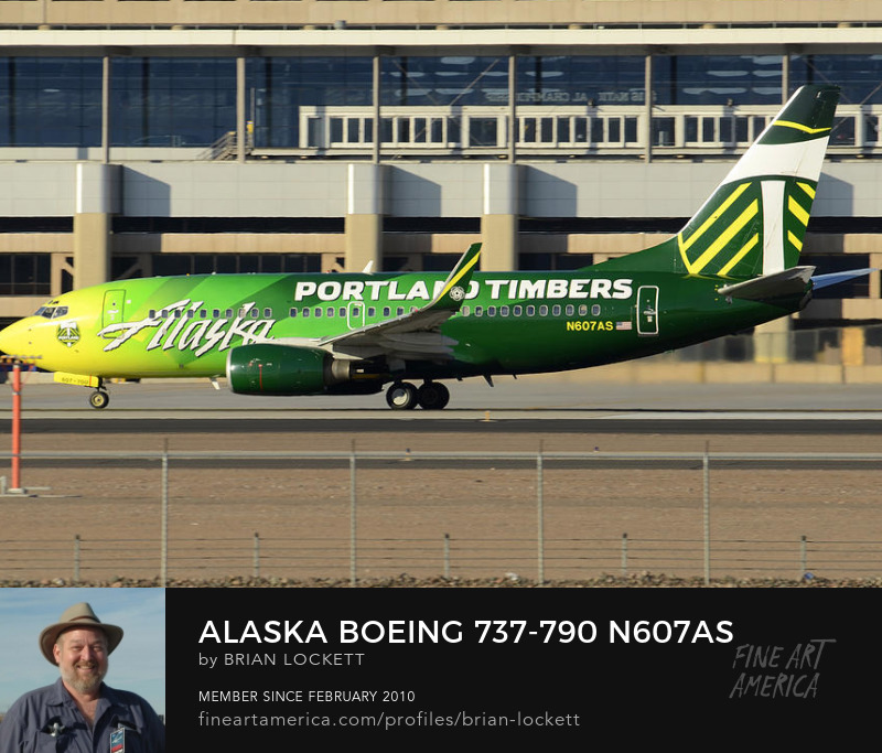 Alaska Boeing 737-790 N607AS Portland Timbers Phoenix Sky Harbor December 31 2015
