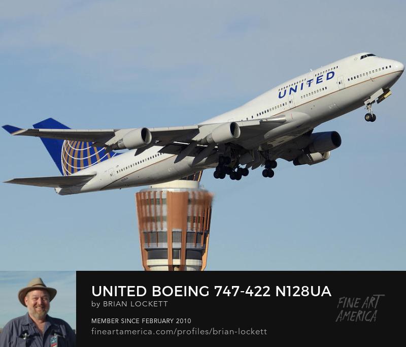 United Boeing 747-422 N128UA Phoenix Sky HarborJanuary 2, 2016